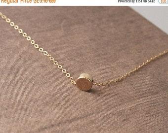 Tiny Necklace,Gold Necklace,Round Necklace,Simple Necklace,Dainty Jewelry,Dainty Necklace,Layered Necklace