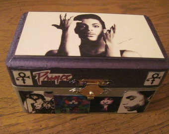 Prince Hand Crafted Decoupaged Wooden Trinket Keepsake Box