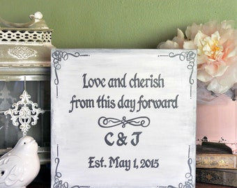 Personalized Quote Wedding Anniversary Canvas