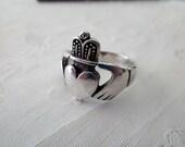 sterling Claddagh Ring - Irish, size 11