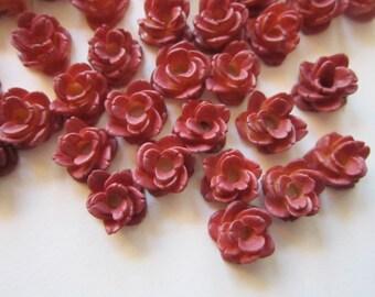 70 vintage resin roses - resin flowers - vintage Japan supply - 1/2 inch wide