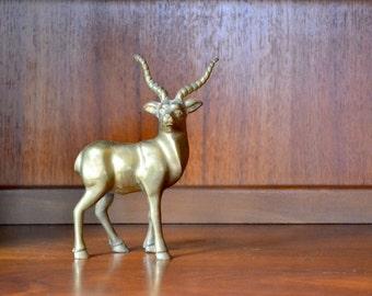 vintage brass antelope figurine