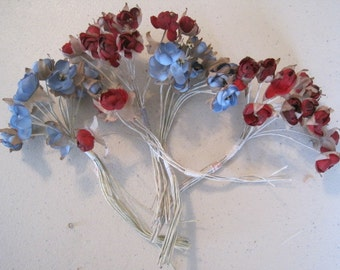 FREE SHIP Lot of Vintage Fabric  Millinery Flowers New Old Stock Corsage Appliqué Trim