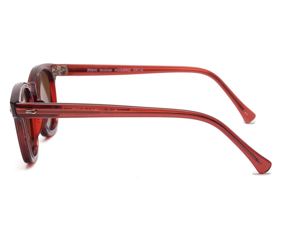 Vintage Deadstock American Optical Safety Glasses - Red