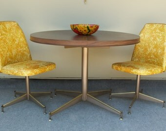 Vintage Formica Table with Two Chairs LOCAL PICK UP only