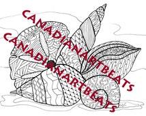 Adult Coloring Page Seashells Beachcombing Printable Downloadable Art