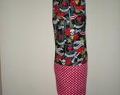 Plastic/Storage bag holder Ed Hardy red white polka dots print NEW great gift idea