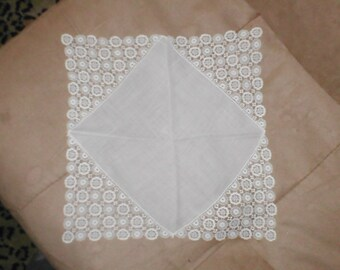 Vintage Lace Bridal Wedding Handkerchief