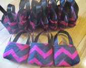 American Girl Doll Party Favors, 10 pink chevron purses for 18 inch dolls