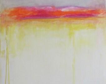 ABSTRACT PRINT,Giclee print of Painting,traceykafka,Yellow Field,tkafka,large prints,wall art,decor