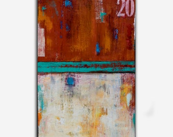 Urban Abstract Painting 24x36 canvas ART by Erin Ashley