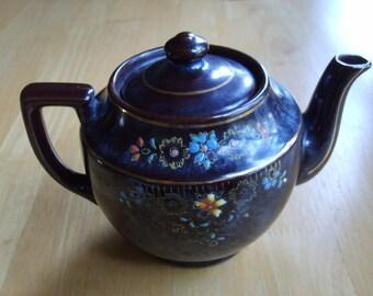 Vintage Brown Chinese Ceramic Tea Pot, Old Tea Pot, Vintage Chinese Tea Pot