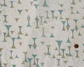 Vintage Fabric Linen Mid Century Mod Remnants