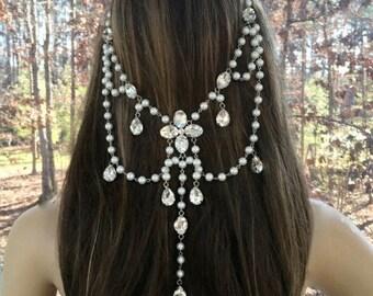 Rhinestone Crystal Headband, Crystal  Bridal Headpiece