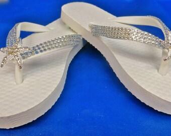 Girls Beach Shoe Clips, Girls Starfish Shoe Clips, Girls Beach Wedding Shoes, Girls Summer Wedding Shoes