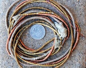 African Metal Spacers: 4 Strands