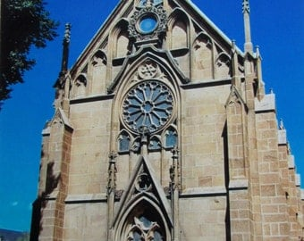 Photo Card Blank Inside - Loretto Chapel - famous church in Santa Fe, New Mexico (NCLCSFE)