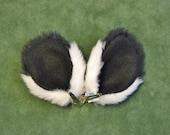 Black and White Panda Bear Faux Fur Ears Costume Halloween Cosplay