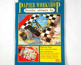 Paper Crafting Magazine German Step-by-Step Photos, Paper making, Marbling, Boxes, Projects