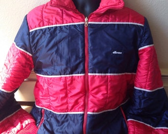 Vintage 1980s Ellesse reversible ski coat mens size large