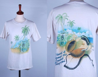 Jimmy Buffet Caribbean Soul Tee || 1990 || Medium