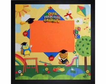 our preschool graduate memory album page black veneer shadow box frame sold separately