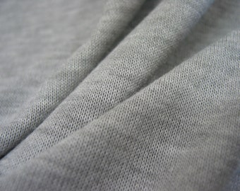 Sweater Jersey Knit - Solid Grey