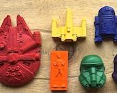 Star Wars crayons, Box of 30 handmade crayons, Star Wars Birthday Party Favors: Handmade Star Wars Crayons