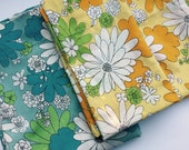 Vintage Flower Power Sheet and Pillow Cases