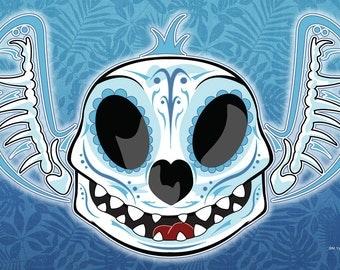 Stitch Sugar Skull 11x14 print