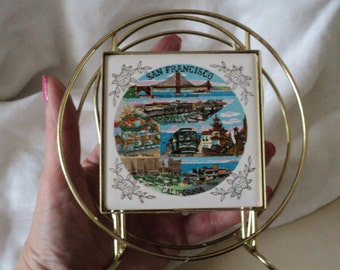 Vintage San Francisco, California Napkin or Letter Holder