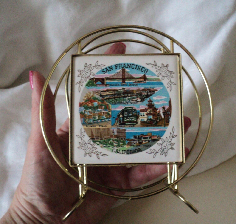 Vintage San Francisco California Napkin or Letter Holder
