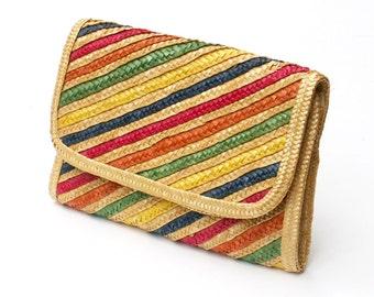 Wicker Clutch Lightweight Handbag