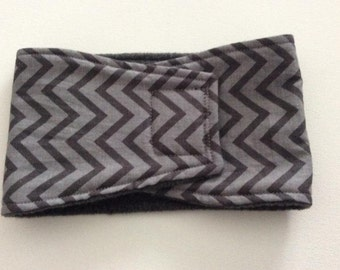 Dog Diaper - Male Dog - Belly Band - Light and Dark Gray Chevron - Available in all Sizes