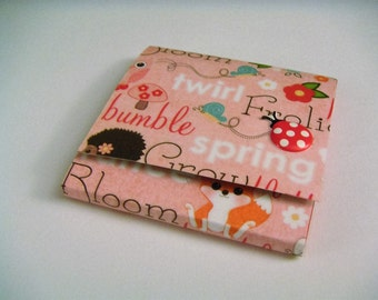 Pink and Red Spring Critters Sticky Notes Pad with Red and White Ladybug