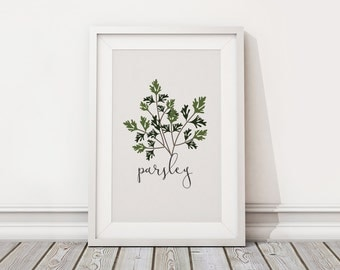 Parsley Printable Vector Art - Kitchen - Apartment - Home - Instant Download - Vector