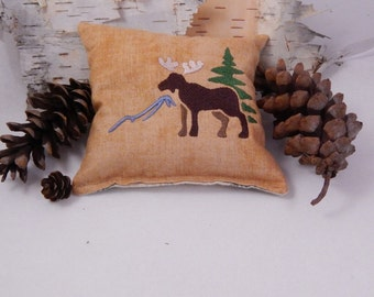 Balsam Sachet, Moose Balsam Pillow, Moose, Tree, Mountain, Made in Maine, USA