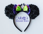 Inspired Maleficent Rose Mouse Ears