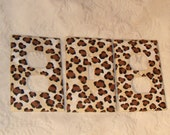 Custom Ordered Hand Painted Leopard Animal Print Set of Light Switch and Electrical Outlet Covers