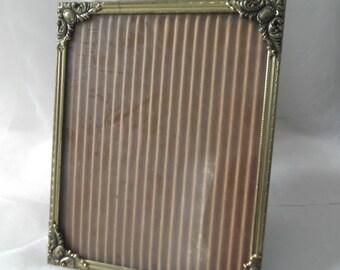 Filigree Frame Vintage Gold 8 x 10 Photo Frame With Glass Table Frame Wedding Decor