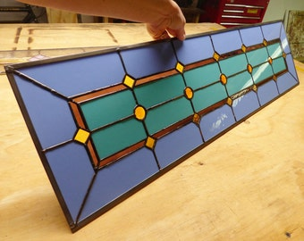 Stained Glass Sidelight or Transom - Mardi Gras Sidelights