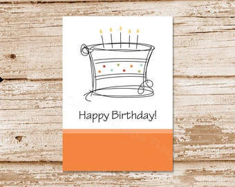 personalized birthday tags . birthday cake tags . PRINTABLE happy birthday tags . stickers, labels . 4 colors included . Instant Download