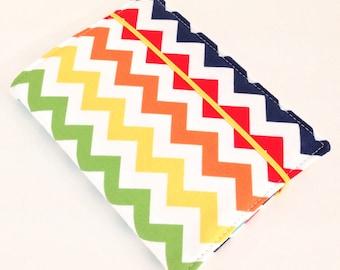 READY TO SHIP - Rainbow Chevron - Crayon Wallet - Coloring Case
