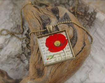 Poppy Red Resin Necklace SALE!