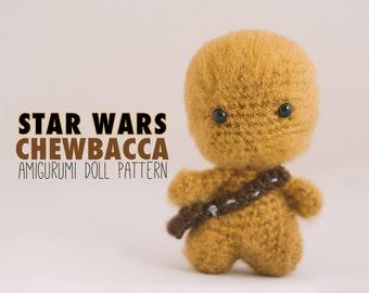 Chewbacca Amigurumi Doll inspired by Star Wars // Star Wars Crochet Pattern // Instant Download