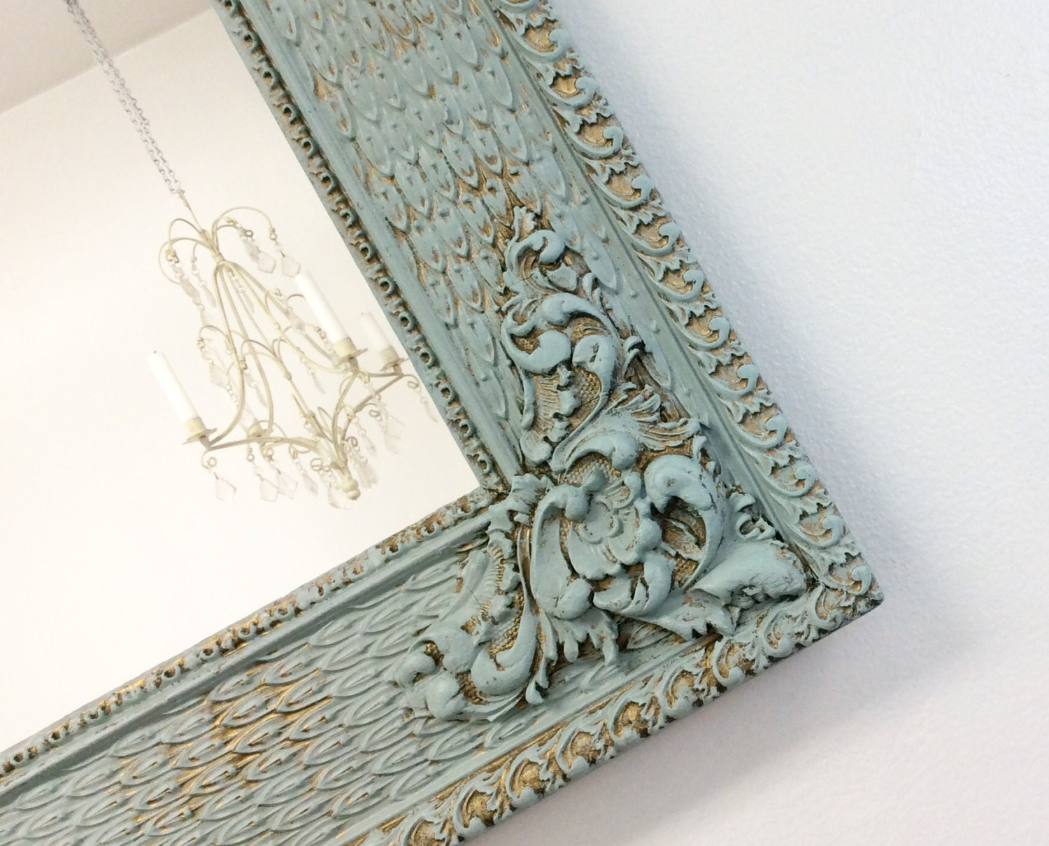 large gold mirrored vanity tray gold filigree shabby chic or