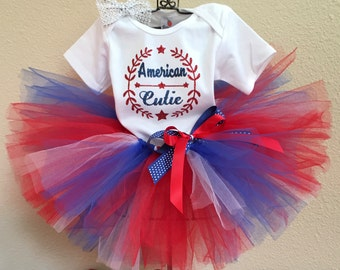 Military Baby, American Cutie, Military Tutu Outfit, 4th of July Tutu, deployment, Welcome Home, First July, Patriotic baby