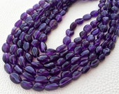 Full 15 Inch strands,SUPER-FINEST-AAA Quality African Amethyst Smooth Nuggets 8-10mm Super Fine Quality,Wholesale Price