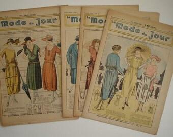 4  French Fashion Magazines La Mode du Jour 1922