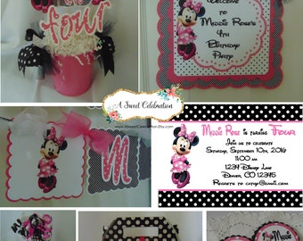 Minnie Mouse Bubble Gum Pink Ultimate Birthday Party Package - Disney birthday Minnie Mouse birthday decorations pink